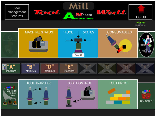 CNC Tool Storage System - Tool Wall-Toolpal